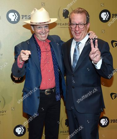 Television producer Mark McKinnon, left, and former editor-in-chief of Time Inc., John Huey attend the 76th Annual Peabody Awards at Cipriani Wall Street, in New York
