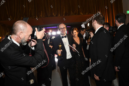 "John Gilbert, winner of the award for best film editing for ""Hacksaw Ridge"", attends the Governors Ball after the Oscars, at the Dolby Theatre in Los Angeles"