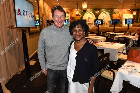 PGA President Gary Lucchesi and Managing Director, PGA East, Michelle Byrd attend the 9th annual Produced By Conference at Twentieth Century Fox on in Los Angeles