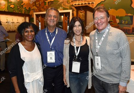 From left, Managing Director, PGA East, Michelle Byrd, PGA National Executive Director Vance Van Petten, Rena Ronson and PGA President Gary Lucchesi and attend the 9th annual Produced By Conference at Twentieth Century Fox on in Los Angeles