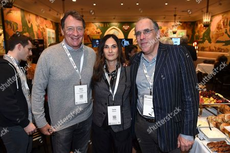 From left, PGA President Gary Lucchesi, Carla Hacken and William Horberg attend the 9th annual Produced By Conference at Twentieth Century Fox on in Los Angeles