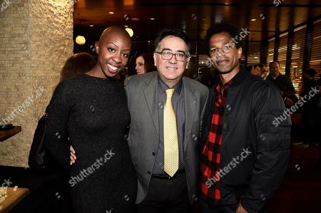 "Associate Producer Oge Egbuonu, Exec. Director - ACLU of Southern California Hector Villagra and Moderator Toure seen at ACLU and Focus Features ""Loving"" Special Screening at The Landmark, in Los Angeles, CA"