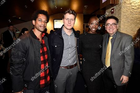 "Moderator Toure, Writer/Director Jeff Nichols, Associate Producer Oge Egbuonu and Exec. Director - ACLU of Southern California Hector Villagra seen at ACLU and Focus Features ""Loving"" Special Screening at The Landmark, in Los Angeles, CA"