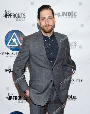 VP Business Development Jonny Blitstein attends the Astronauts Wanted and Rumble Yard joint NewFront Presentation 2017 at Sony Music Headquarters, in New York