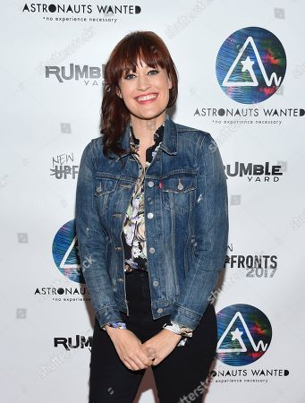 Stock Image of Comedian Mamrie Hart attends the Astronauts Wanted and Rumble Yard joint NewFront Presentation 2017 at Sony Music Headquarters, in New York