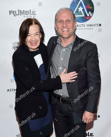 Stock Image of Astronauts Wanted president Judy McGrath, left, and Lee Stimmel, head of original content at Sony Music Entertainment, attend the Astronauts Wanted and Rumble Yard joint NewFront Presentation 2017 at Sony Music Headquarters, in New York