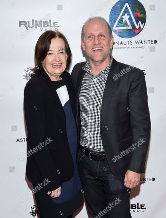 Astronauts Wanted president Judy McGrath, left, and Lee Stimmel, head of original content at Sony Music Entertainment, attend the Astronauts Wanted and Rumble Yard joint NewFront Presentation 2017 at Sony Music Headquarters, in New York