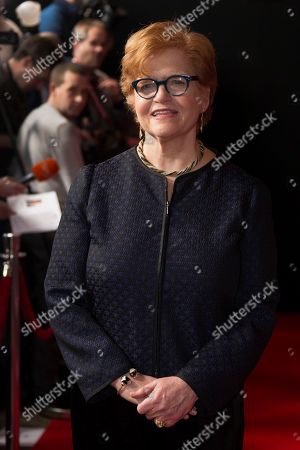 Stock Picture of Professor Deborah Lipstadt, author of the novel Denial: Holocaust History on Trial, pose sfor photographers upon arrival at the Denial screening in central London