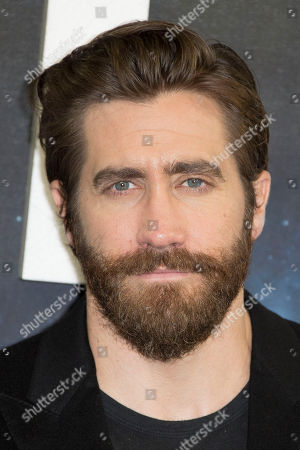 Actor Jake Gyllenhall poses for photographers at the photo call for the film, Life, at a central London hotel