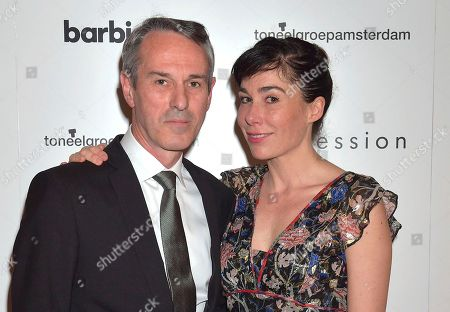Director Ivo Van Hove with actress Halina Reijn at the press night for Ivo Van Hove's production of 'Obsession' staring Jude Law at the Barbican in London