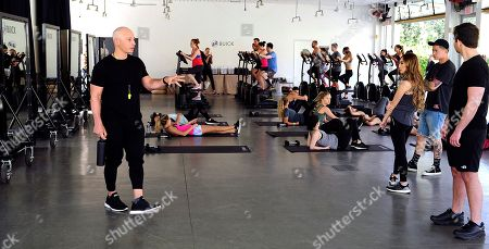 Stock Photo of Buick Encore Backstage Classes lead by celebrity trainer and fitness expert Harley Pasternak at the Ace Hotel and Swim Club, in Palm Springs, Calif. This wellness event showed festival goers how to stay fit and healthy while road tripping