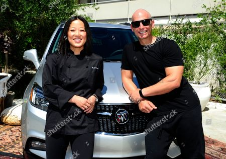 Buick Encore Backstage Classes hosted by chef Bo O'Connor, left, and celebrity trainer Harley Pasternak at the Ace Hotel and Swim Club, in Palm Springs, Calif. This wellness event showed festival goers how to stay fit and healthy while road tripping