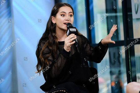 "Singer Jasmine Thompson participates in the BUILD Speaker Series to discuss her new EP, ""Wonderland"", at AOL Studios, in New York"