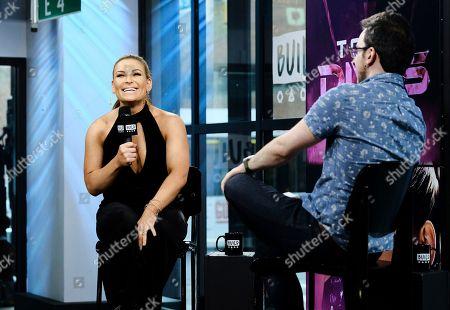 "WWE wrestler Natalya ""Nattie"" Neidhart participates in the BUILD Speaker Series to discuss the E! series ""Total Divas"" at AOL Studios, in New York"