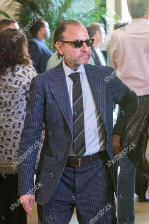 Fisher Stevens arrives at the Carrie Fisher and Debbie Reynolds Memorial Service at The Forest Lawn, in Los Angeles