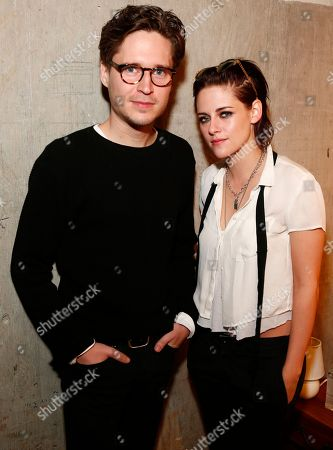 """Come Swim"""" actor Josh Kaye and director Kristen Stewart pose in the Indiewire Photo Studio at Chase Sapphire on Main, during the 2017 Sundance Film Festival, in Park City, Utah"""