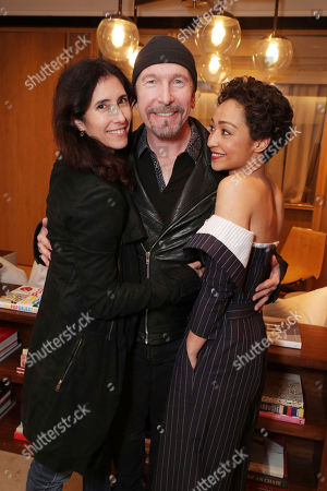 Morleigh Steinberg, Dave 'The Edge' Evans and Ruth Negga seen at Focus Features 'Loving' special screening hosted by U2's The Edge, in Los Angeles, CA