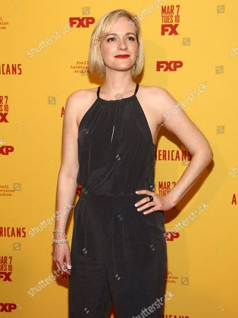 "Stock Photo of Suzy Jane Hunt attends FX's ""The Americans"" season five premiere at the DGA Theater, in New York"