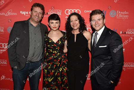 """Stock Photo of Gil Cates Jr., Ginnifer Goodwin, Director Giovanna Sardelli and Allen Leech attend the Los Angeles premiere of """"Constellations"""" at the Geffen Playhouse on in Westwood, Calif"""