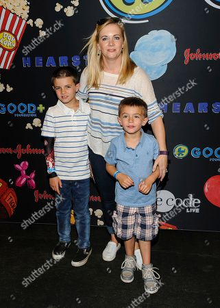 Stock Photo of Braydon Hart Wilkerson, from left, Melissa Joan Hart, and Tucker McFadden Wilkerson attend the GOOD+ Foundation 2017 Benefit Bash at Victorian Gardens at Wollman Rink in Central Park, in New York