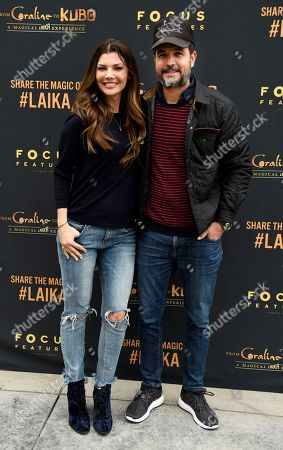"""Stock Photo of Actress Ali Landry and her husband Alejandro Gomez Monteverde pose together at the re-opening of """"From 'Coraline' to 'Kubo': A Magical LAIKA Experience,"""" at the Globe Theatre, in Universal City, Calif"""