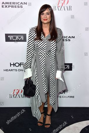 Roopal Patel arrives at Harper's BAZAAR's 150 Most Fashionable Women at the Sunset Tower Hotel, in Los Angeles