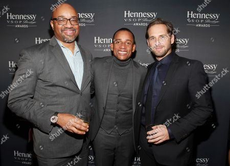 Stock Picture of IMAGE DISTRIBUTED FOR HENNESSY - Rodney Williams, CMO & EVP - Spirits at Moet Hennessy USA, from left, actor, author and philanthropist Hill Harper and actor Josh Lucas attend the 13th annual Hennessy V.S.O.P Privilege Awards at Sousa House on in New York. Hennessy recognized Mr. Harper for his dedication to empowering the next generation of multicultural professionals