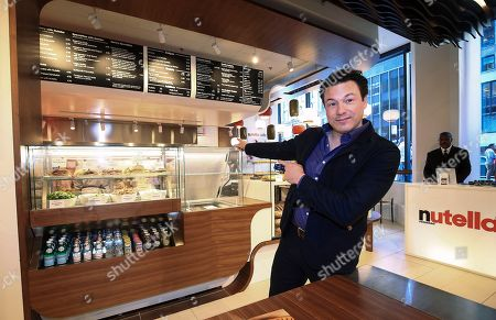 Nutella� fan Rocco DiSpirito joins the celebration to help open the first ever Nutella Cafe on in Chicago, Ill