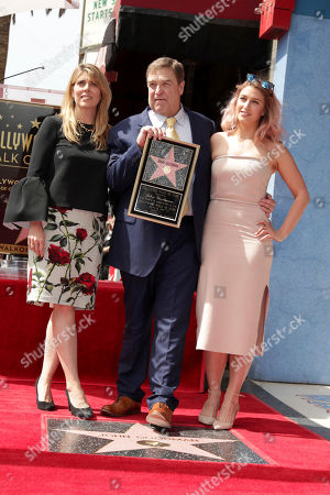 Stock Image of Anna Beth Goodman, John Goodman and Molly Goodman seen at John Goodman honored with a star on the Hollywood Walk of Fame, in Los Angeles