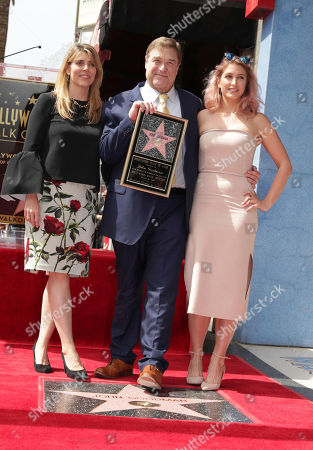 Anna Beth Goodman, John Goodman and Molly Goodman seen at John Goodman honored with a star on the Hollywood Walk of Fame, in Los Angeles