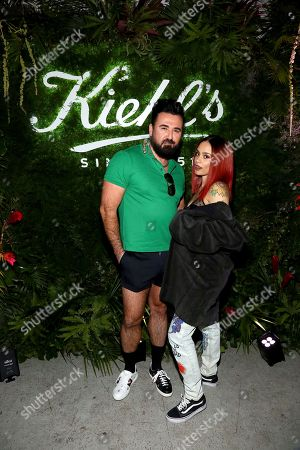 Kiehl's President Chris Salgardo, left, and Kehlani are seen at Kiehl's Pure Vitality Launch Party, in New York City