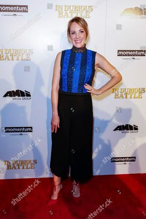 """Stock Photo of Jennifer Zaborowski arrives at the LA Premiere of """"In Dubious Battle"""" at the ArcLight Hollywood, in Los Angeles"""