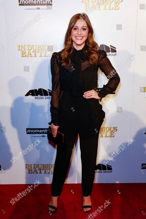 """Julianna Guill arrives at the LA Premiere of """"In Dubious Battle"""" at the ArcLight Hollywood, in Los Angeles"""