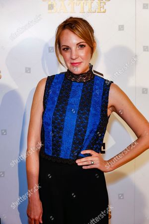 """Stock Image of Jennifer Zaborowski arrives at the LA Premiere of """"In Dubious Battle"""" at the ArcLight Hollywood, in Los Angeles"""
