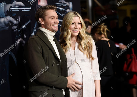 "Stock Photo of Actor Chad Michael Murray poses with his wife Sarah Roemer at the premiere of the film ""John Wick: Chapter 2,"" at ArcLight Cinemas, in Los Angeles"