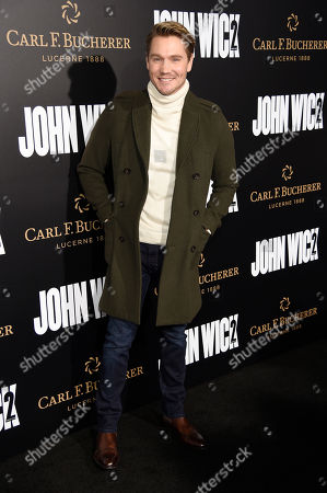 """Actor Chad Michael Murray poses at the premiere of the film """"John Wick: Chapter 2,"""" at ArcLight Cinemas, in Los Angeles"""