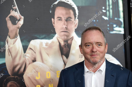 "Dennis Lehane, author of the novel ""Live by Night,"" poses at the premiere of the film based on his book at the TCL Chinese Theatre on in Los Angeles"