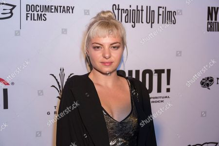 """Kaya Stewart arrives at the LA Premiere of """"SHOT! The Psycho-Spiritual Mantra of Rock"""" at the Pacific Theatres at The Grove, in Los Angeles"""