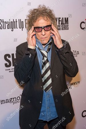 """Photographer Mick Rock arrives at the LA Premiere of """"SHOT! The Psycho-Spiritual Mantra of Rock"""" at the Pacific Theatres at The Grove, in Los Angeles"""