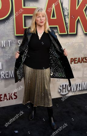 """Candy Clark poses at the premiere of the Showtime series """"Twin Peaks"""" at The Theatre at Ace Hotel, in Los Angeles"""