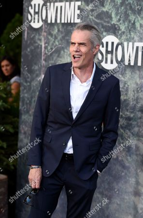 """Dana Ashbrook, a cast member in """"Twin Peaks,"""" arrives at the premiere of the Showtime series at The Theatre at Ace Hotel, in Los Angeles"""