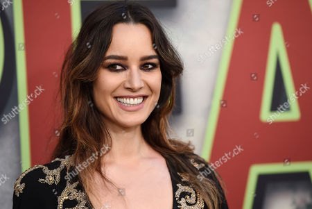 "Stock Image of Berenice Marlohe, a cast member in ""Twin Peaks,"" poses at the premiere of the Showtime series at The Theatre at Ace Hotel, in Los Angeles"