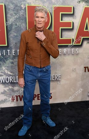 """Everett McGill, a cast member in """"Twin Peaks,"""" poses at the premiere of the Showtime series at The Theatre at Ace Hotel, in Los Angeles"""