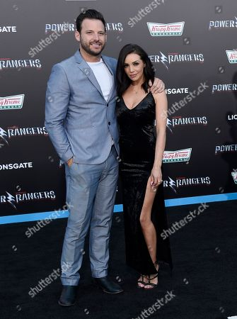 "Stock Photo of Robert Valletta, left, and Scheana Marie arrive at the Los Angeles premiere of Saban's ""Power Rangers"" at the Regency Westwood Village Theatre on"
