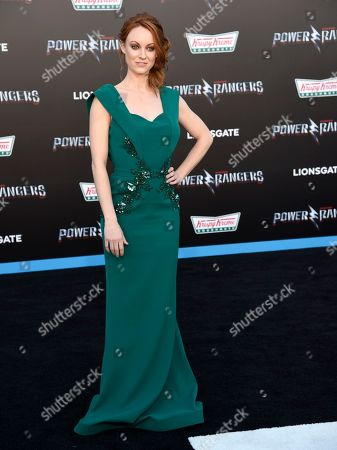 "Fiona Vroom arrives at the Los Angeles premiere of Saban's ""Power Rangers"" at the Regency Westwood Village Theatre on"