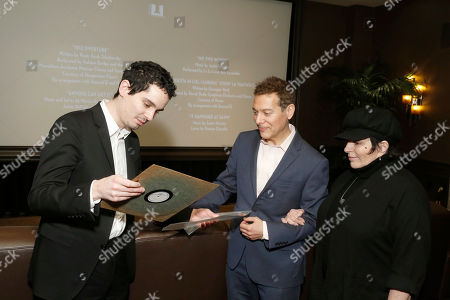 """Writer/Director Damien Chazelle, Michael Feinstein and Liza Minnelli seen at Lionsgate """"La La Land"""" Special Screening Hosted by Liza Minnelli, in Beverly Hills, Calif"""