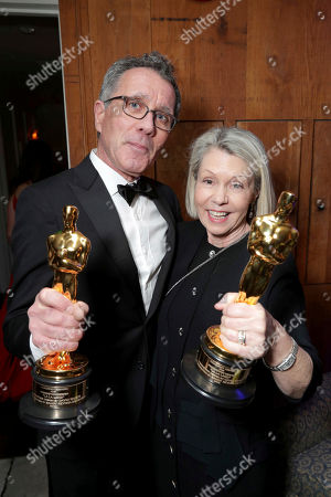 """La La Land"""" Production Designers David Wasco and Sandy Reynolds-Wasco seen at Lionsgate's Oscar Celebration, presented by Bulleit Frontier Whiskey at Soho House West Hollywood, in West Hollywood, Calif"""