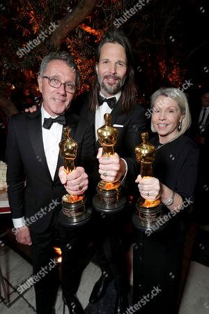 "La La Land"" Production Designer David Wasco, Cinematographer Linus Sandgren and Production Designer Sandy Reynolds-Wasco seen at Lionsgate's Oscar Celebration, presented by Bulleit Frontier Whiskey at Soho House West Hollywood, in West Hollywood, Calif"