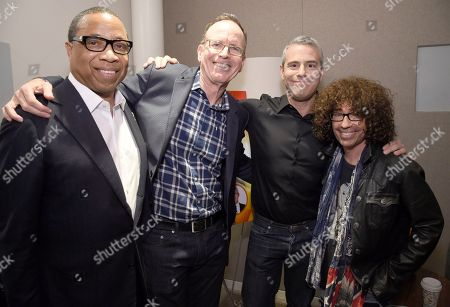 Hayma Washington, Chairman and CEO of the Television Academy, from left, Jonathan Murray, Andy Cohen, and Mike Darnell attend the Television Academy's sold out member event, Mike Darnell: Reality TV's Great Provocateur, at the Saban Media Center on in North Hollywood, Calif