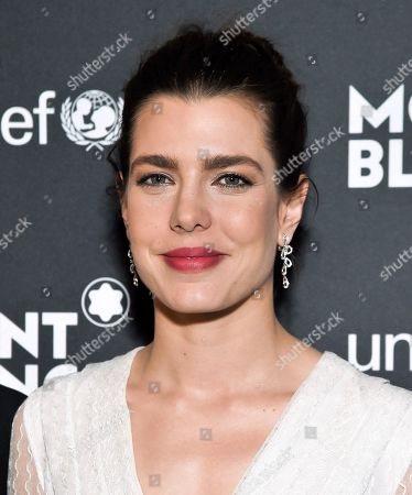 Princess Charlotte Casiraghi attends the Montblanc for UNICEF Collection launch event at the New York Public Library, in New York